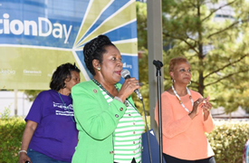 Rep. Sheila Jackson Lee at Kidney Action Day Houston